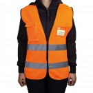Warnweste mit Tasche nach EN ISO 20471