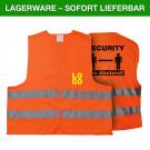 Warnweste Security 2 Meter Abstand - Mit eigenem Logo vorne