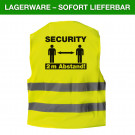 Warnweste Security 2 Meter Abstand